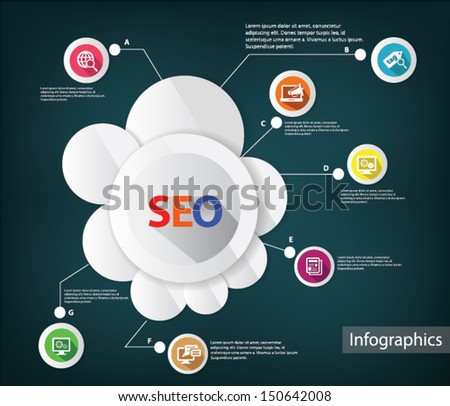 Seo and searching,Infographic design,vector - stock vector