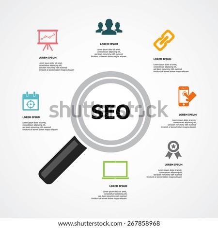 SEO background - stock vector