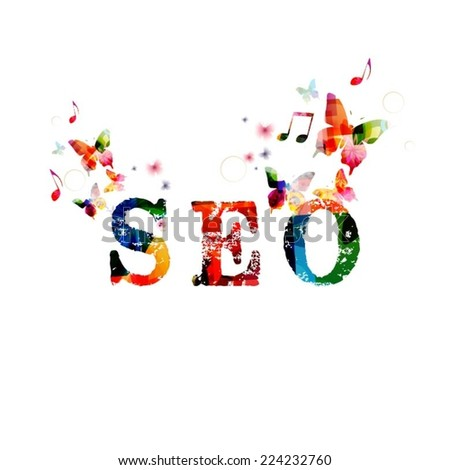 SEO design - stock vector