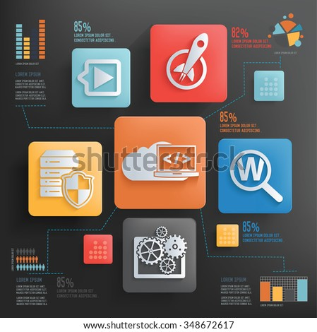 SEO development and marketing concept design clean background,clean vector
