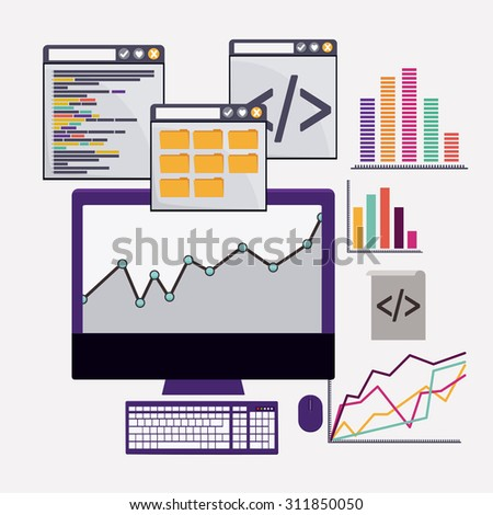 SEO digital design, vector illustration eps 10 - stock vector