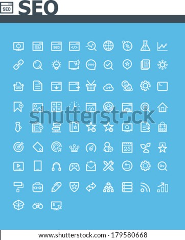 SEO icon set - stock vector