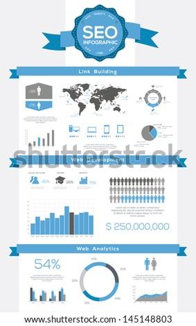Seo infographics set world map information stock vector 145148803 seo infographics set world map and information graphics gumiabroncs Image collections
