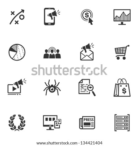 SEO & Internet Marketing Icons - Set 3 - stock vector