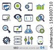 SEO services icons set 04 - stock vector