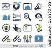SEO services icons set 03 - stock vector