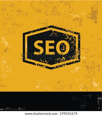 Seo symbol,grunge vector - stock vector