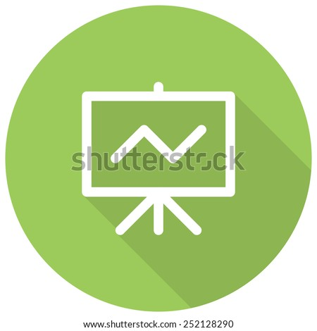 Seo Training, Flip chart with line chart, modern vector icon - stock vector