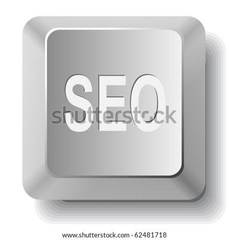 Seo. Vector computer key. - stock vector