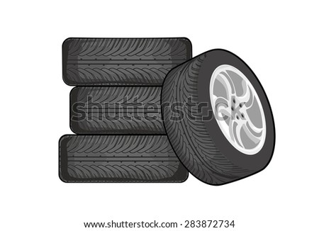 Separate vector about wheels