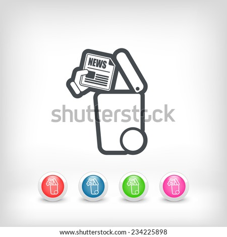 Separate waste collection icon - stock vector