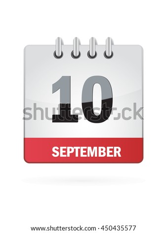 September Ten. Calendar Icon