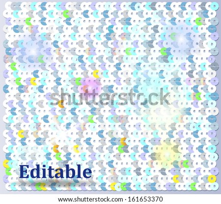 Sequin background easy editable - stock vector