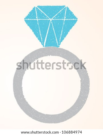 Sequins Ring - stock vector