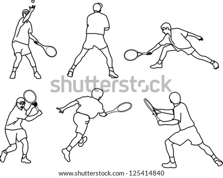 serve; service; shot; silhouette slice backhand forehand volley lob smash; dropshot