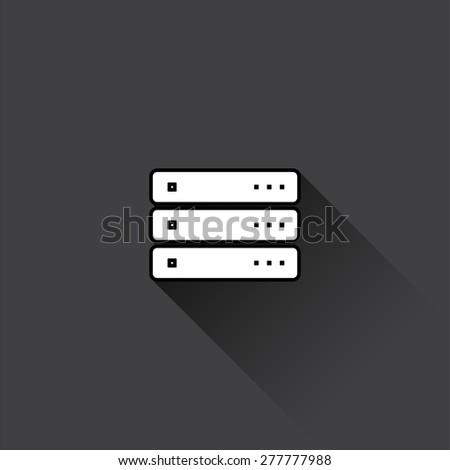 Server icon. Vector illustration. - stock vector