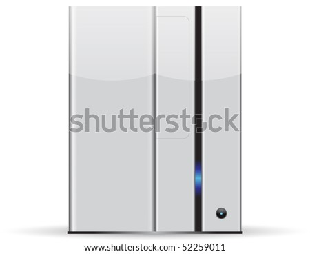 Server minimalist, isolated on white background - stock vector