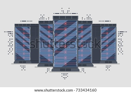 server page background server rack row server cabinet farm abstract background big