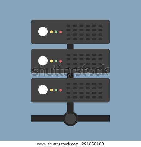 server vector icon - stock vector