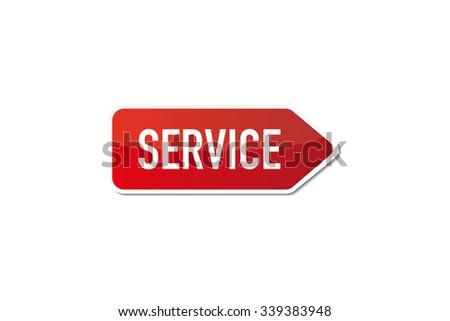 Service - stock vector