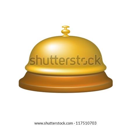 Service bell in gold design