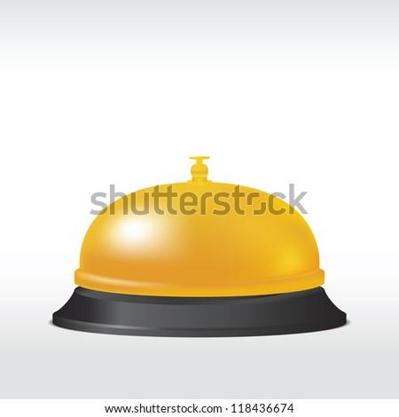 Service bell. Vector illustration - stock vector