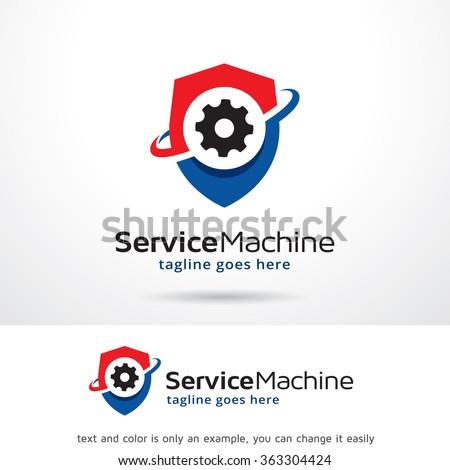 Service Machine Logo Template Design Vector - stock vector