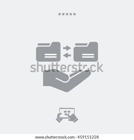 Service offer - Folder synchronization - Minimal icon - stock vector