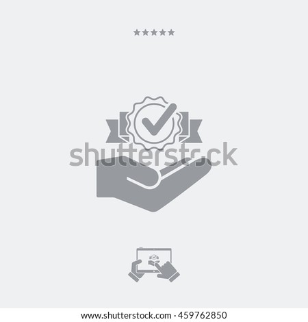 Service offer - Greatest satisfaction - Minimal icon - stock vector