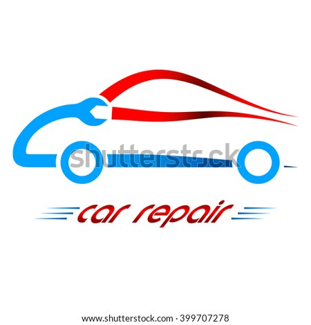 service station / car repair icon - stock vector