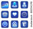 Services icons and mobile phone apps - stock vector