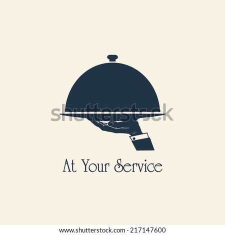 SERVING FOOD symbol - stock vector