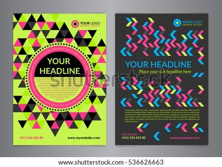 Set A 5 A 4 Business Brochure Flyer Stock Vector 536626663