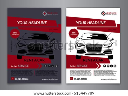 Set A 5 A 4 Rent Car Business Stock Vector 515449789 Shutterstock