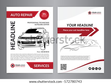 Set A 4 Auto Repair Business Layout Stock Vector 572780743 ...
