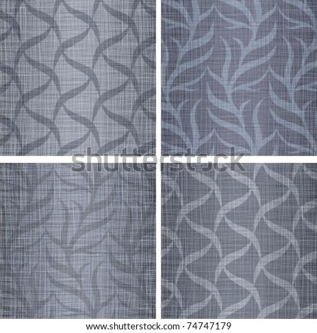 Set a background with a jeans fabric - stock vector