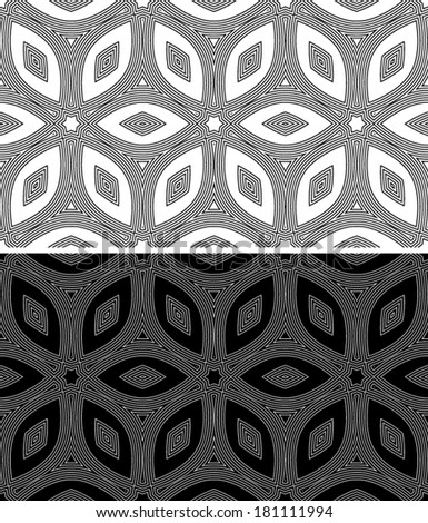 Set abstract seamless (tile, pattern) background. Texture.