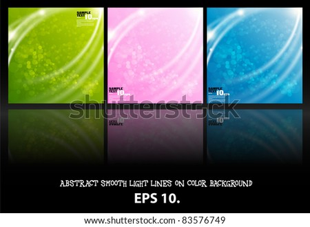 set abstract vector background - stock vector