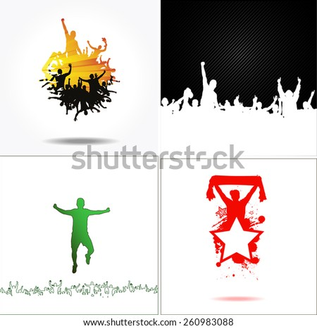 Set advertising banners for sporting events and concerts - stock vector