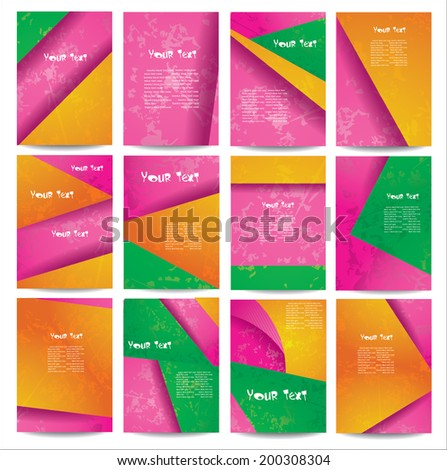 Set advertising posters on different topics. - stock vector