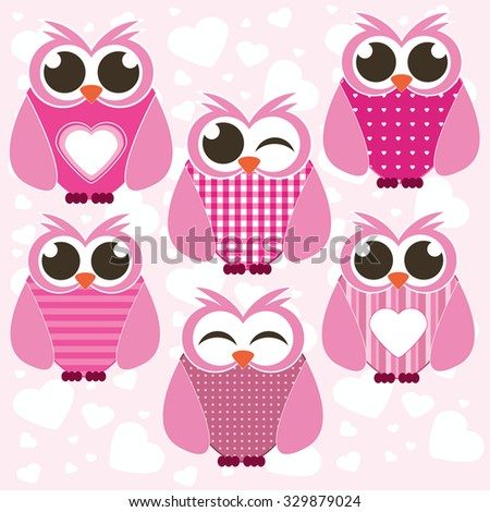Set against the backdrop of pink dreams of hearts vector - stock vector