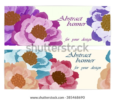 Set  backgrounds with floral rose. Vector illustration, EPS10 - stock vector