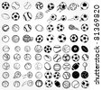 Set Ball sports icons symbols comic vector illustration - stock photo