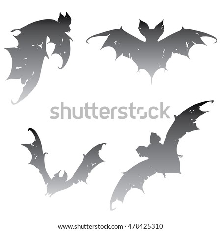 Bat tattoo stock photos royalty free images vectors for Bat moon tattoo