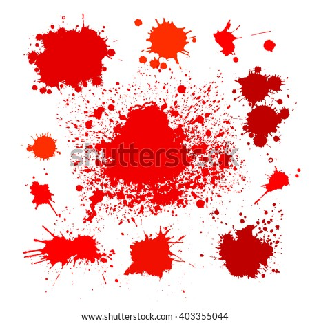Set Blood stain of ink. Vector - stock vector