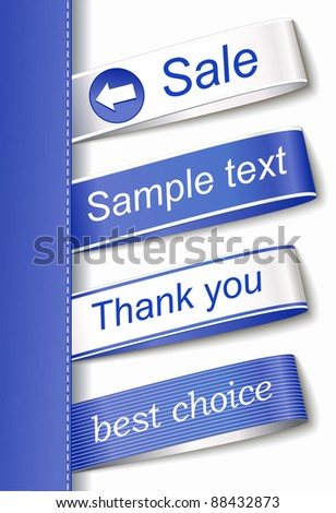 set blue stickers