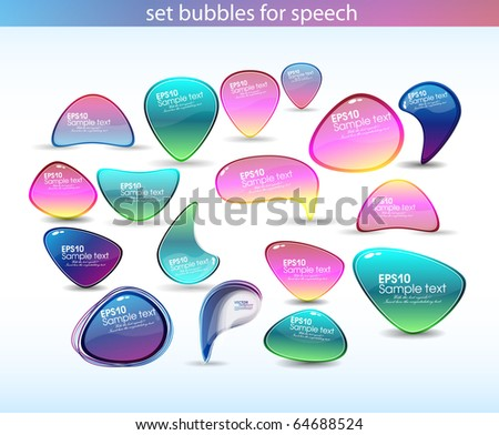 set bubbles for speech.vector eps10 - stock vector
