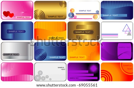 set business and gift cards. vector.