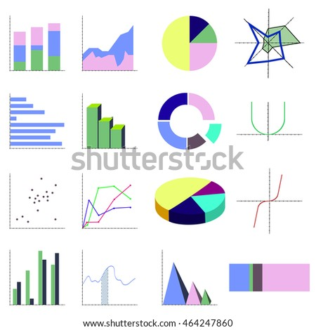 Set business diagram histogram pie chart stock vector 2018 set business diagram histogram pie chart graph of a function scatter plot ccuart Choice Image