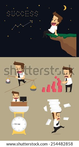 Set,Businessman Character.vector - stock vector